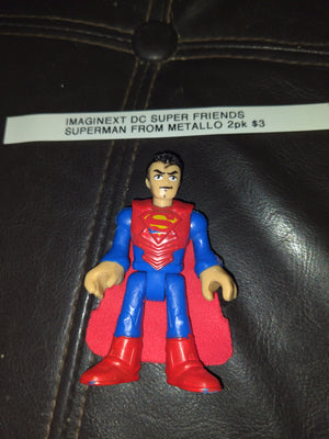 Imaginext DC Super Friends Superman From Metallo Two Pack