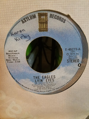 The Eagles Lyin' Eyes / Too Many Hands - 45 RPM Record