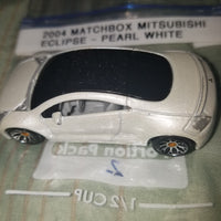 2004 Matchbox Mitsubishi Eclipse Pearl White Version