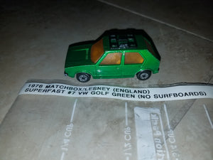 1976 Matchbox / Lesney (UK) Superfast #7 VW Green Golf