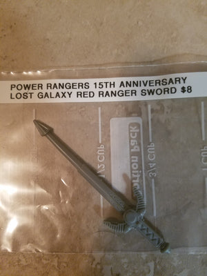 15th Anniversary Power Rangers Lost Galaxy Red Ranger Sword