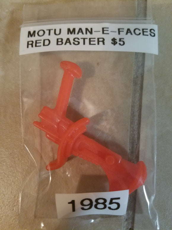 1985 MOTU Man-E-Faces Red Blaster