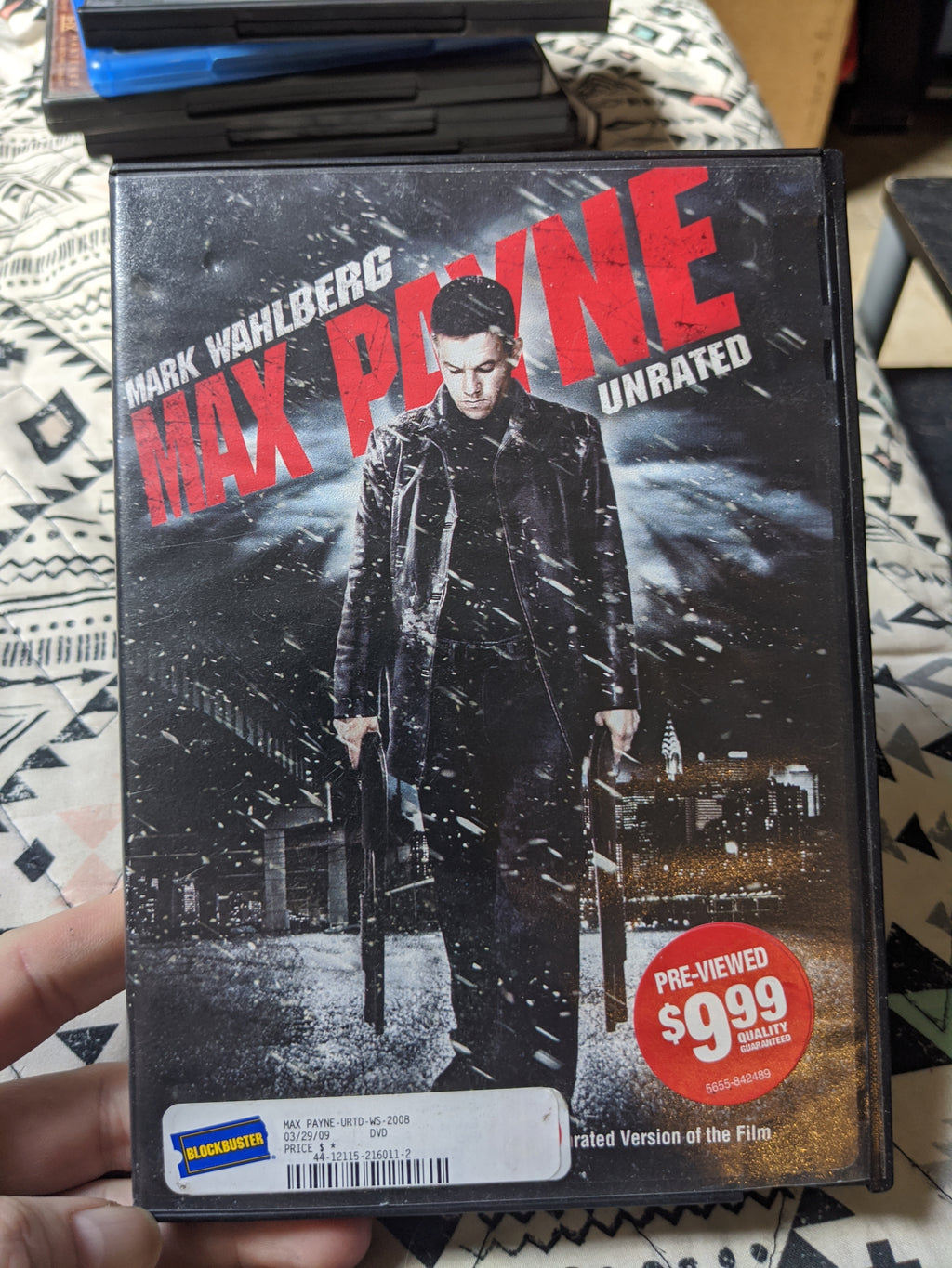 Max Payne Unrated DVD - Mark Wahlberg