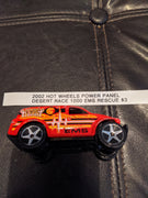 2002 Hot Wheels Power Panel Desert Race 1000 EMA Rescue SUV