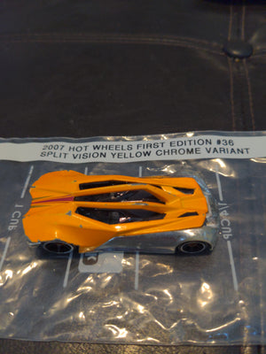 2007 Hot Wheels 1st Edition #36 Split Vision Yellow & Silver Version