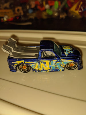 2008 Hot Wheels #74 All Stars Super Tuned Graffiti Blue/Grey Variant PR5