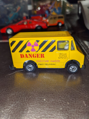 1990 Hot Wheels Simpsons Scene Viewer Homer Nuclear Van 1976