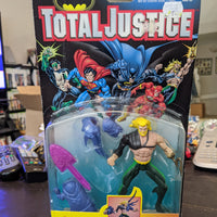 1996 Kenner DC Total Justice Aquaman with Hydro Spear Sealed