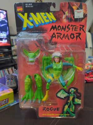 1997 Toybiz X-Men Monster Armor Rogue w/Leech Bat Armor Sealed