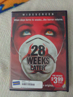 28 Weeks Later Widescreen DVD - Jeremy Renner - Horror