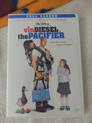 Walt Disney The Pacifier Full Screen DVD - Vin Diesel - with Chapter Insert