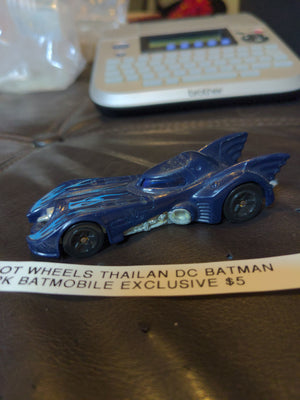 Hot Wheels Thailand Batmobile from 5pk Blue with Flames