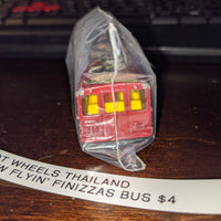 1988 Hot Wheels Thailand Sideshow Flyin' Finizzas Red Bus Trapeze Artists Circus