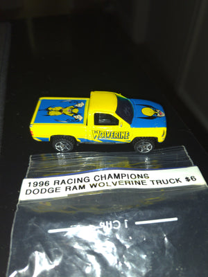 1996 Racing Champions Dodge Ram Wolverine Marvel Superheroes Pickup Truck