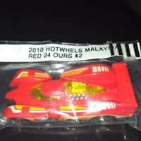 2010 Hot Wheels Malaysia Red 24 Hours Race Car