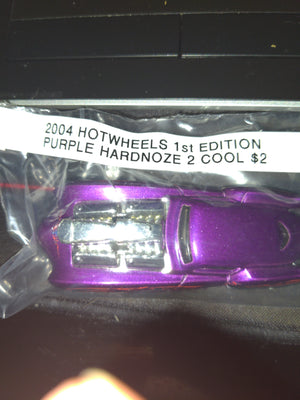 2004 Hot Wheels 1st Edition Purple Hardnoze 2 Cool Die-Cast Car