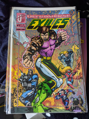 Malibu Ultraverse Comics - The Exiles #1 and 2 (1993) Unread MINT Lot