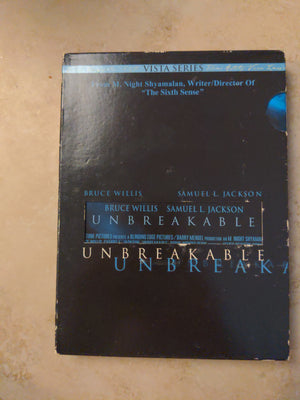 Unbreakable Vista Series M. Night Shamalan 2 DVD - Bruce Willis - Samuel L. Jackson