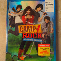 Walt Disney Camp Rock Extended Rock Star Edition DVD with Slipcover & Insert