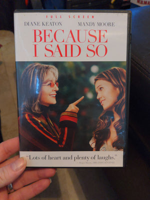 Because I Said So Full Screen DVD - Diane Keaton - Mandy Moore