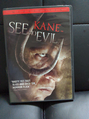 See No Evil Horror WWE Kane Widescreen DVD w/ Chapter Insert - Roddy Piper on Back