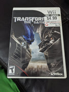 Nintendo Wii Transformers The Game CIB Case, Disc & Instruction Booklet Videogame