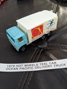 1979 Hot Wheels Teal Cab OP Ocean Pacific Delivery Truck