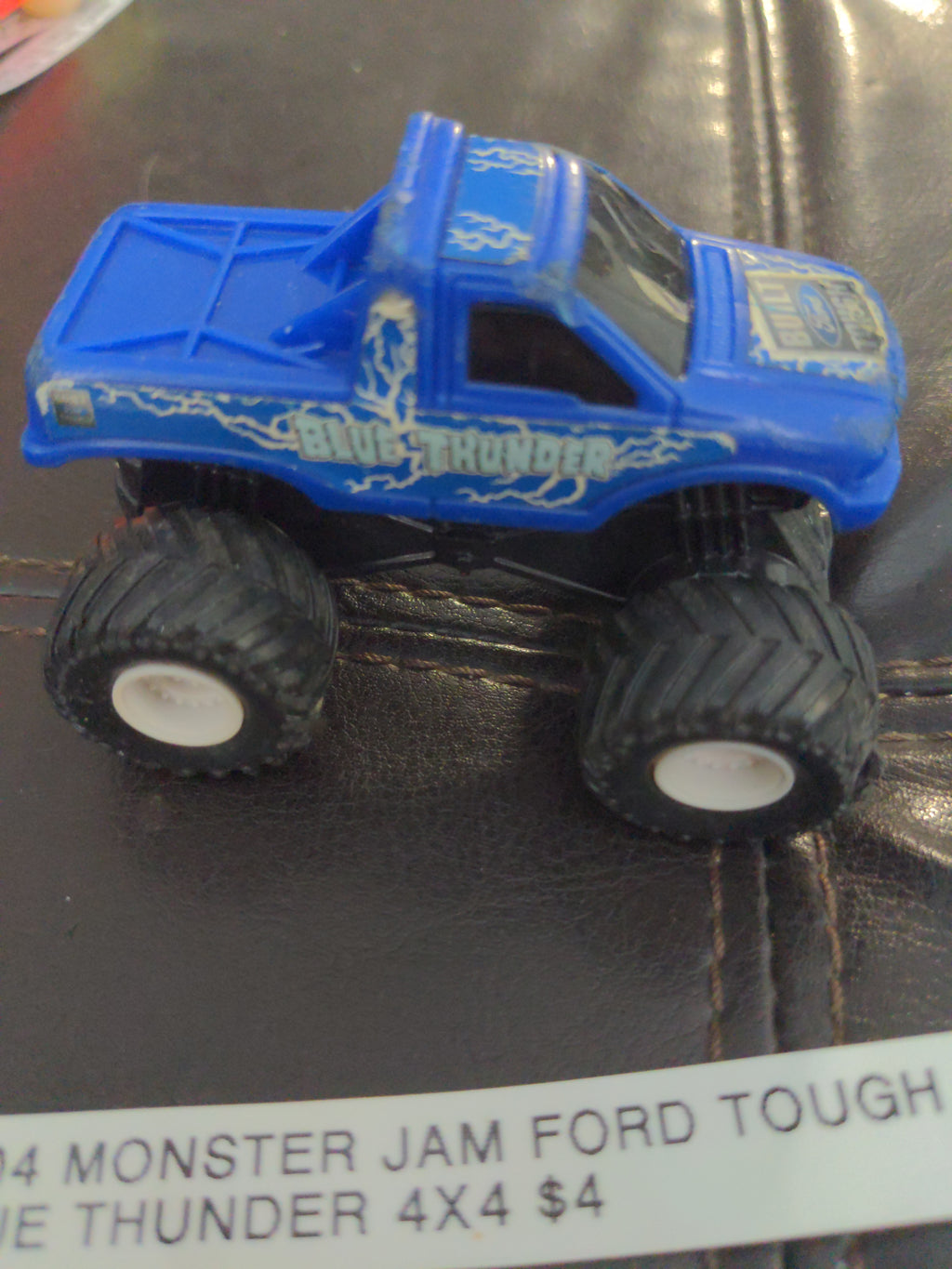 2004 Monster Jam Blue Thunder Ford Tough Pullback 4x4 Car Made In China