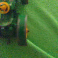 1964 Matchbox Lesney #50 Deere Green Tractor - No Tires/Yellow Rims Only
