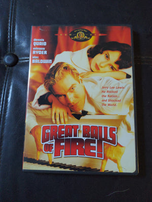 Great Balls Of Fire MGM DVD - Dennis Quaid - Wynona Ryder - Alec Baldwin OOP RARE