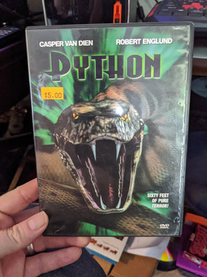 Python Horror DVD with Chapter Insert - Robert Englund - Casper Van Diem - Wil Wheaton