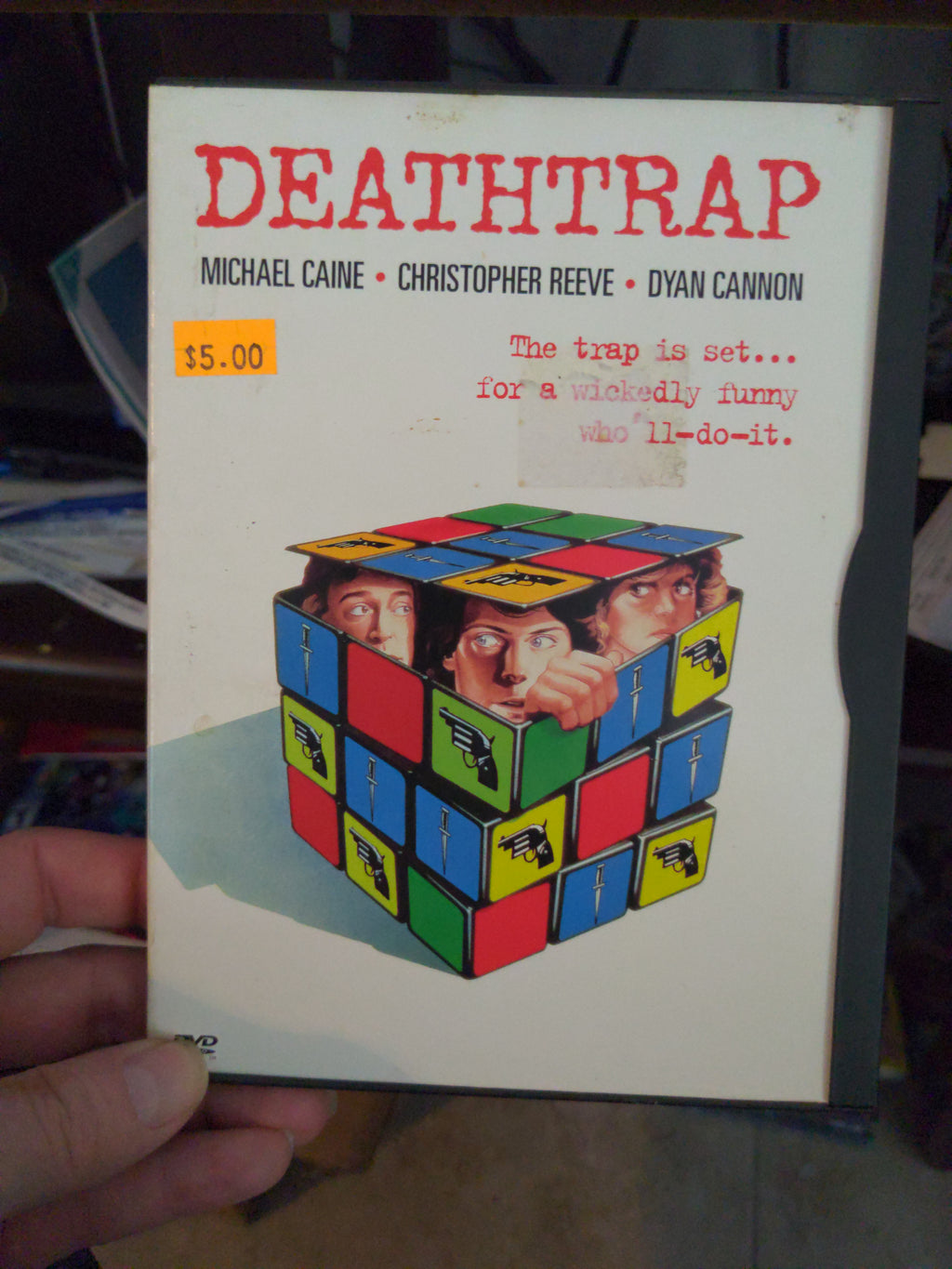 Deathtrap Snapcase DVD - Christopher Reeve - Dyan Cannon - Michael Caine