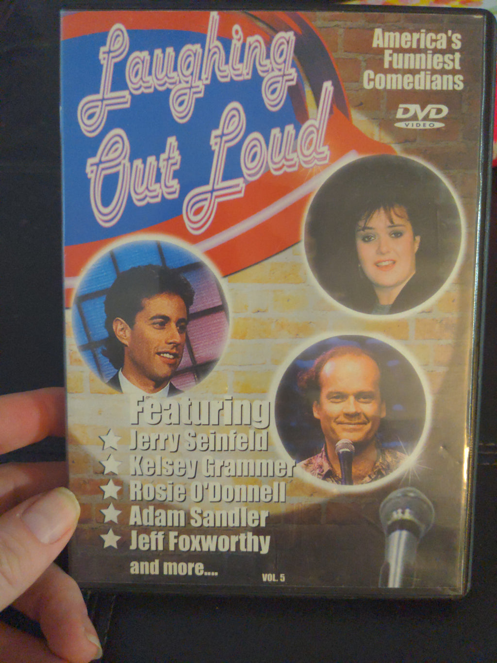 Laughing Out Loud Volume 5 Comedy Stand-UP DVD - Jerry Seinfeld - Adam Sandler