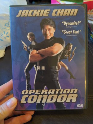 Operation Condor DVD - Jackie Chan with Chapter Insert - OOP RARE
