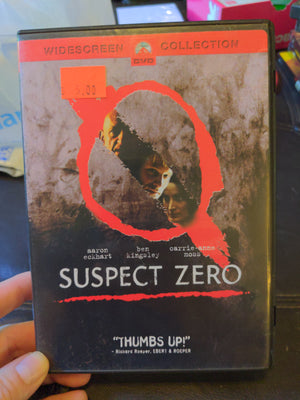 Suspect Zero Widescreen Collection DVD - Ben Kingsley - Aaron Eckhart - Carrie-Anne Moss