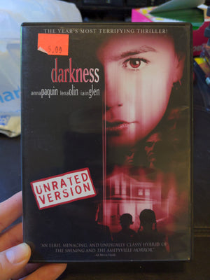 Darkness Unrated Version DVD - Thriller - Anna Paquin - Lena Olin - Iain Glen