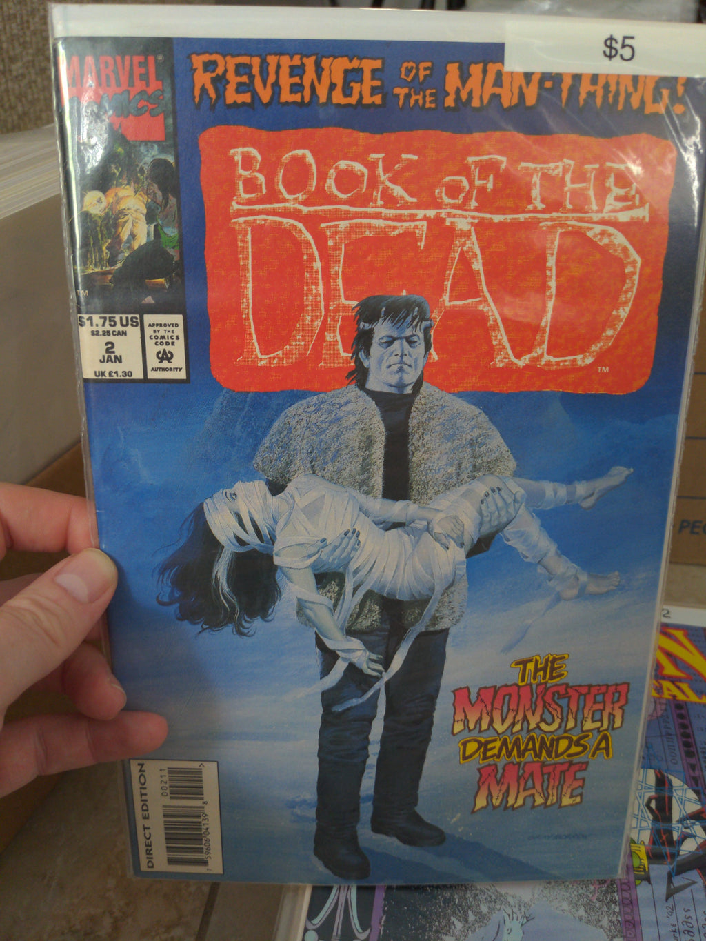 Book of the Dead #2 Man-Thing Frankenstein Marvel Comics
