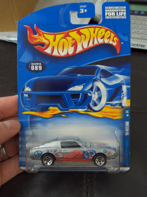 2001 Hot Wheels #89 Hippie Mobiles '68 Mustang Silver Sealed Car