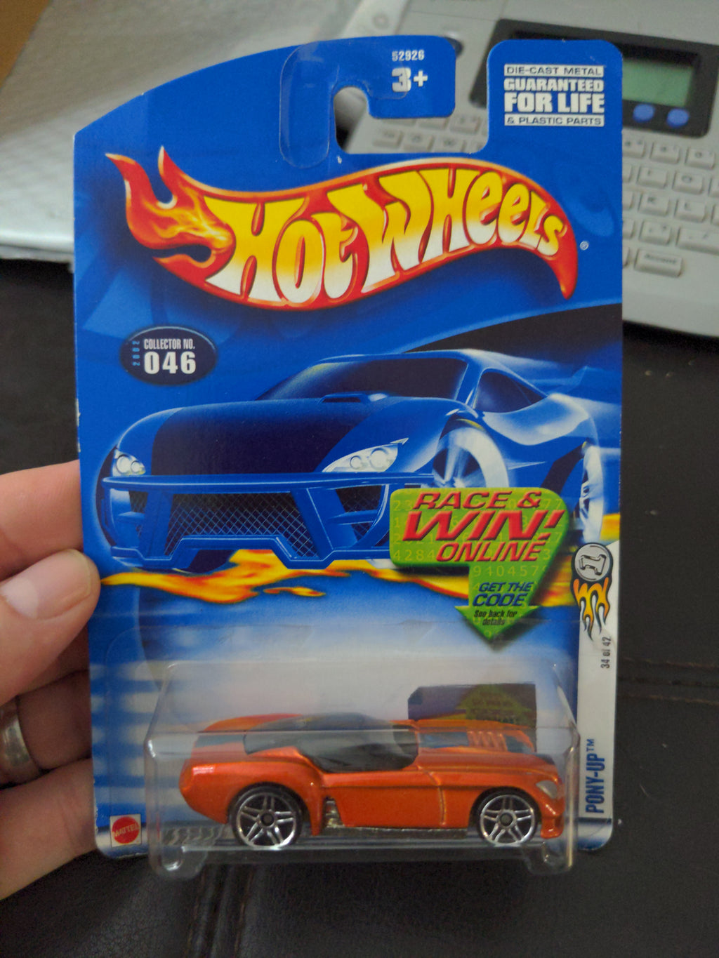 2002 Hot Wheels #46 First Editions 34/42 Pony Up Orange Sealed Car