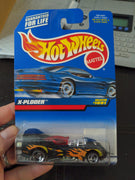 1999 Hot Wheels #1091 X-Ploder Black with Flames Sealed Car