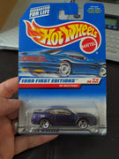 1999 Hot Wheels #909 First Edition #2/26 Mustang '99 Purple/Tan 3 Spoke Car