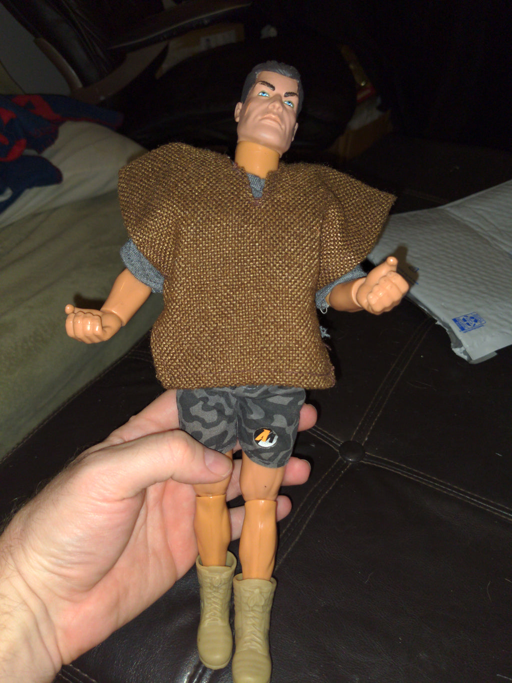 "1993 Hasbro Action Man 12"" Figure with Burlap Poncho"