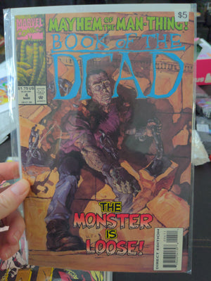 Book Of The Dead #4 - Marvel Comics - Mayhem Of The Man-Thing Horror