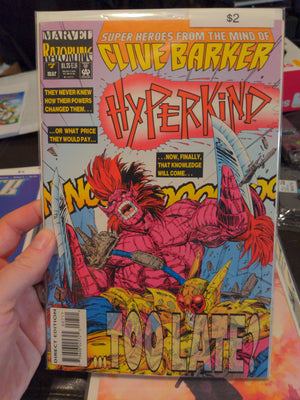 Hyperkind Issue #7 - Marvel Comics - Razorline - Clive Barker