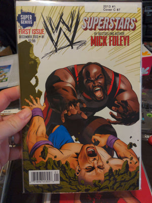 WWE Superstars Comic #1 Cover C Variant - Wrestling - Super Genius - Mick Foley