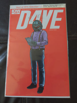 D4VE #4 (2015) IDW Comics - Valentin Ramon Susbscription Variant Cover Comicbook