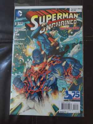Superman Unchained #3 Variant b (from Combo Pack) DC Comics The New 52