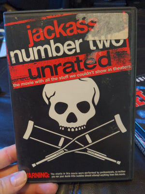 Jackass Number Two Unrated Widescreen MTV DVD - Johnny Knoxville - Bam Margera