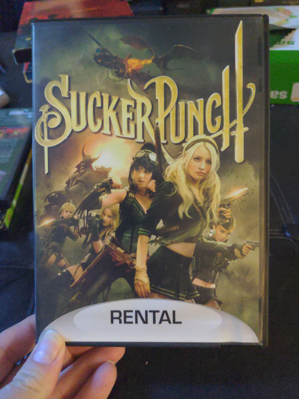 Sucker Punch Marked RENTAL on Case and DVD Blockbuster Video