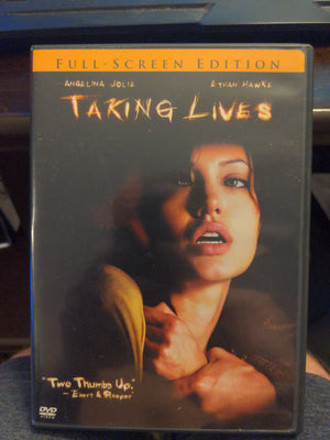 Taking Lives Full Screen Edition DVD - Angelina Jolie - Ethan Hawke Thriller